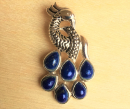 Pendentif Lapis Lazuli Paon