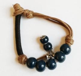 Bracelet tibétain  bleu