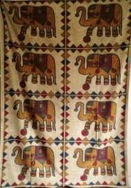 Grand Foulard Eléphants