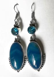Boucles d`oreilles Argent et Agate