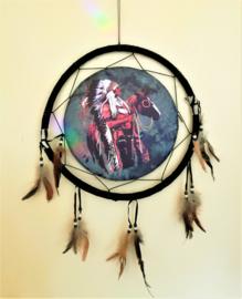 "Attrape rêves ""Chef amérindien à cheval"""