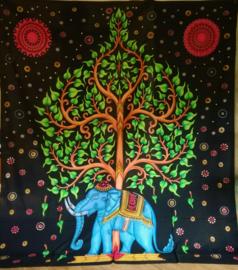 Grand Foulard Levensboom met olifant