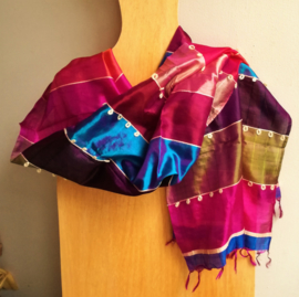 Sjaal zijde multicolor