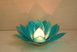 Sfeerlicht Lotus Capiz schelp blauw