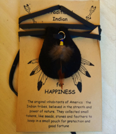 Indianen buidel 'Happiness'