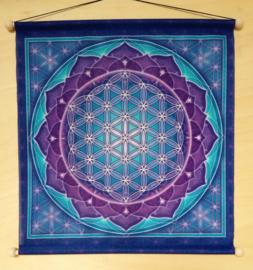 Bannière de méditation Fleur de vie
