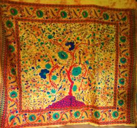 Indiase Grand Foulard Levensboom - horizontaal