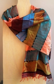 Sjaal zijde uit India