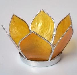 Lotus Chakra theelicht geel