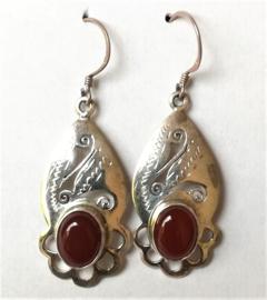 Tibetaanse oorbellen zilver