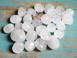Bergkristal trommelstenen