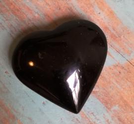 Coeur en Obsidienne noire