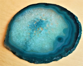 Tranche agate bleue