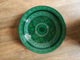 Plat de poterie marocaine vert