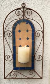Mozaiek kandelaar siersmeedijzer