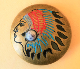 Indianen button