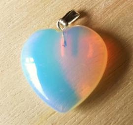 Pendentif coeur en Opaline