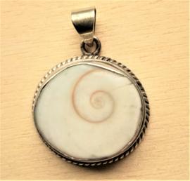 Hanger echt zilver Shiva oog