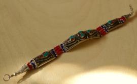 Tibetaanse armband Turkoois Koraal