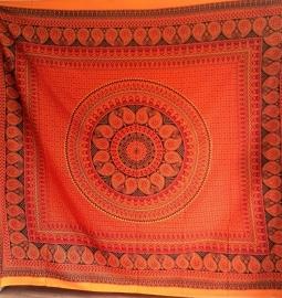 Indiase Grand Foulard rood/oranje