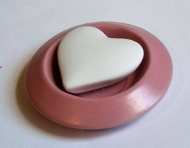 Geursteen hart roze