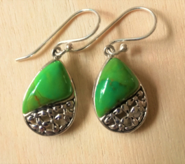 Boucles d`oreilles Turquoise vert