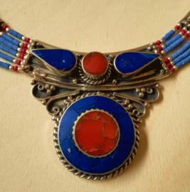 Collier Tibétain avec Lapis Lazuli et Corail