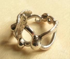 Zilveren Slangen Ring mt 17