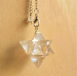 Pendule Merkaba - Cristal de roche