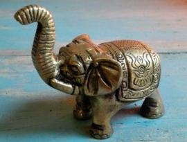 Beeldje olifant messing