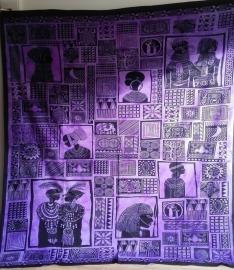 Grand Foulard Africain - violet