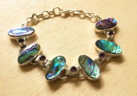 Bracelet coquille d`ormeau en argent