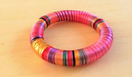 Bracelet indien en soie rose