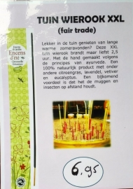 Tuinwierook XXL fair trade