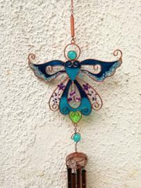 Carillon à vent ange bleu