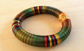 Bracelet indien vert - soie