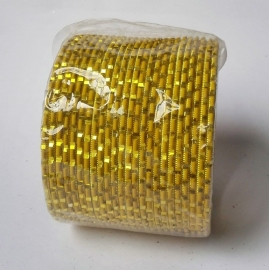 Indiase bangle armbanden geel/goud