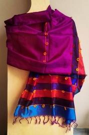 Indiase sjaal paars zijde