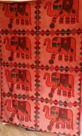 Grand foulard éléphant indien