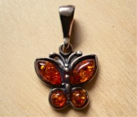 Vlinder hanger Amber