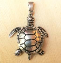 Schildpad hanger zilver