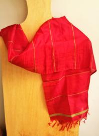 Indiase sjaal rood