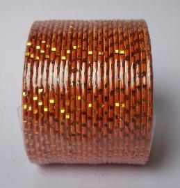 Indiase bangle armbanden set oranje