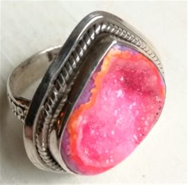Ring Agaat roze