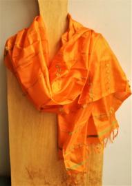 Sjaal Zijde Oranje