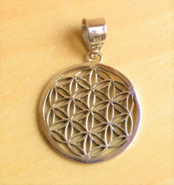 Hanger 'Flower of Life' zilver