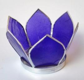 Theelicht Lotus Capiz schelp indigo