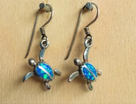Boucles d'oreilles tortue opale