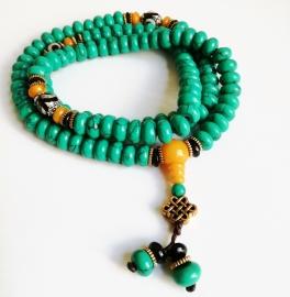 Collier Mala tibétain Turquoise