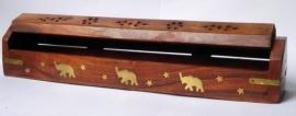 Wierookhouder hout Olifanten